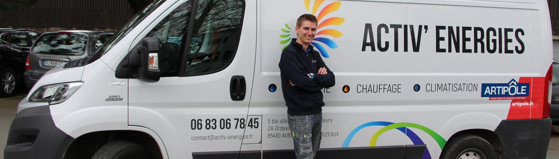 Activ' Energies, entreprise plomberie, chauffage, climatisation à la Roche-sur-Yon et ses environs
