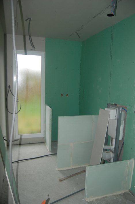 Réalisation d'une salle de bain, préparation
