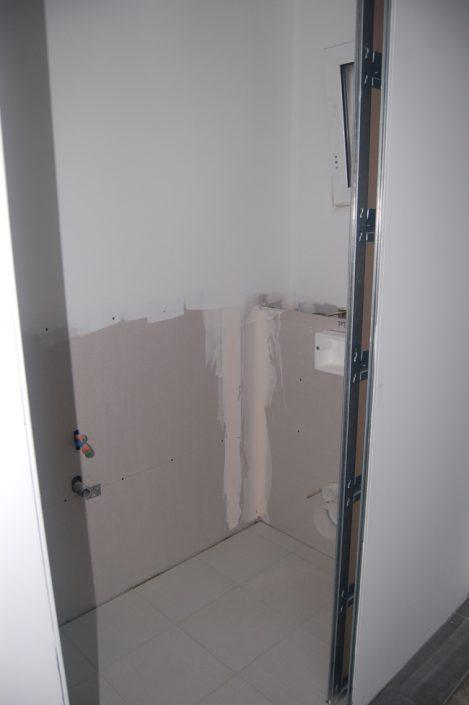 Réalisation d'un toilette, préparation