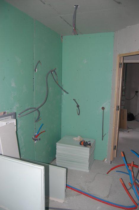 Préparation à la réalisation de la nouvelle salle de bain