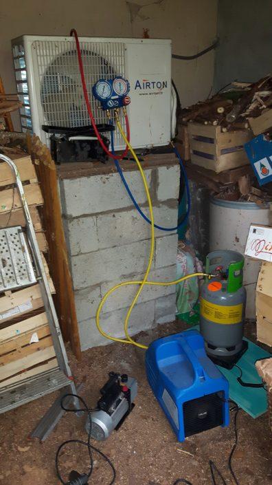 Remplacement d'une climatisation, récupération du fluide de l'ancien équipement