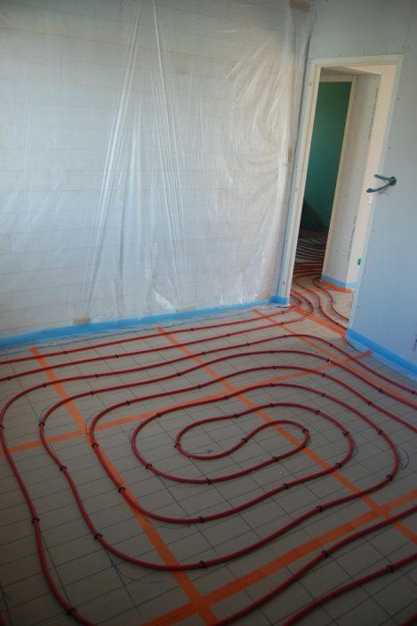 Réalisation de réseau de plancher chauffant