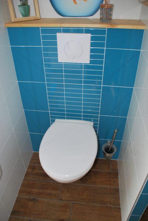 Salle de bain finale, pose de wc suspendu